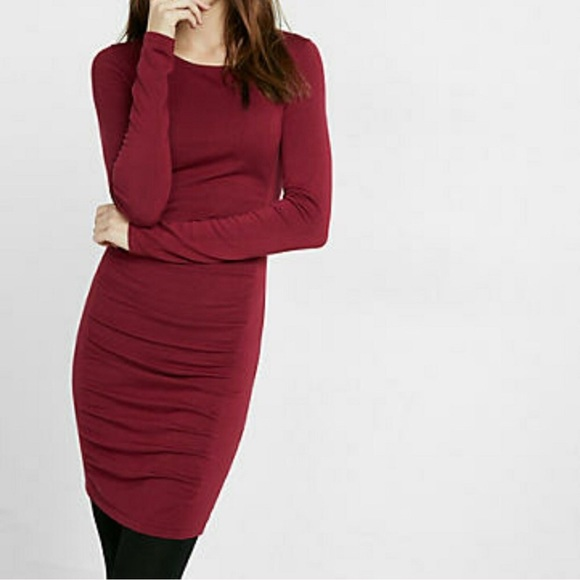 9508933f7d5 Express Dresses   Skirts - Burgundy sweater dress NWOT